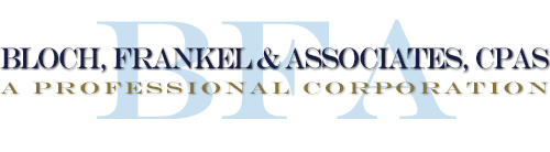 Glendale, CA CPA Firm | Tax Rates Page | Bloch, Frankel & Associates, CPAs, PC