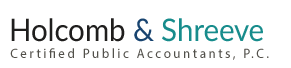 Mesa, AZ Accounting Firm | Disclaimer Page | Holcomb & Shreeve P.C.