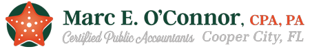 Cooper City, FL Accounting Firm | Site Map Page | Marc E. O'Connor, C.P.A., P.A.