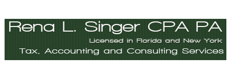 Coral Springs & Parkland, FL CPA Firm | Subscribe To Our Newsletter Page | Rena L Singer CPA PA