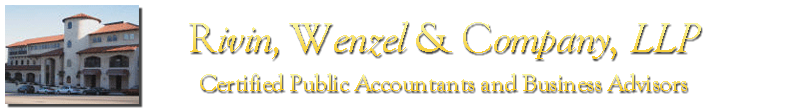Woodland Hills, CA Accounting Firm | Disclaimer Page | Rivin Wenzel & Company, LLP
